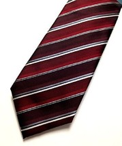 John Ashford Mens EDI Stripe Neck Tie, Red, One Size - $12.86