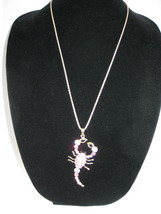 NEW Betsey Johson Pink Rhinestone Scorpion Pendant on Lo... - $19.60