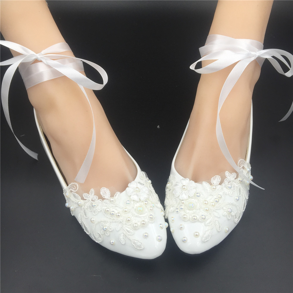 Primary image for off white bridal shoes,comfortable flat bridal shoes ivory lace flat shoes
