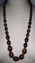 Vintage Brown Yellow End of Days BAKELITE TESTED Bead Beaded Choker Neck... - $356.40