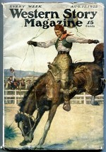 Western Story Magazine Pulp August 12 1922- Peg Leg Garfield VG- - $85.75