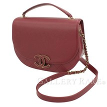 CHANEL Messenger Bag Calf Leather Bordeaux A93460 Italy Authentic 5379804 - $3,560.15