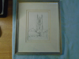1992  Drawing Signed Simon Manby Derby Catheral - $46.16