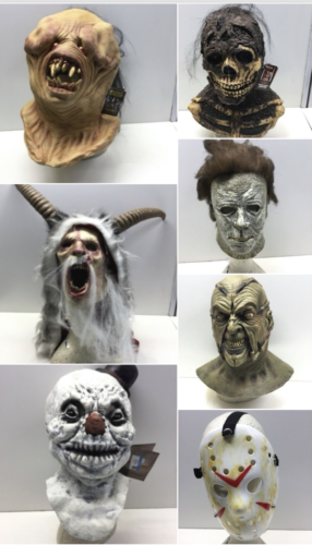 Lot (7) Halloween Mask Night Breed Berzerker Creepshow Nate Clive Barker Krampus