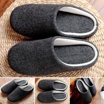 "Men""s Soft Cotton Indoor Floor Slippers Non-slip House Home Solid Slippe... - $29.20"
