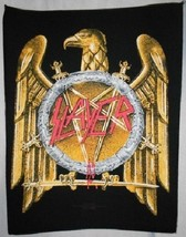 "Slayer Eagle Gold Golden Sew On 11""x14"" Back Patch Badge-Tom Araya-Appli... - $14.34"
