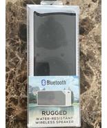 NEW Wireless Bluetooth Speaker White 16WMS129-WTE Rugged Waterproof Rech... - $16.82