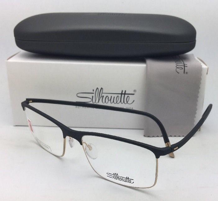 New SILHOUETTE Eyeglasses SPX 2904 20 6050 54-18 140 Matte Black & Gold Frame