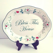 "Pfaltzgraff Winterberry Pattern ""Bless This House"" Platter 10.5"" New in ... - $21.24"