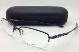 New OAKLEY Eyeglasses CLUBFACE OX 3102-0254 Semi-Rimless Polished Brown Frames