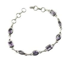 Fine 925 sterling silver Amethyst Bracelets Women Jewelry FFU16JJB06 - $64.87 CAD