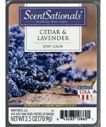 Cedar Lavender ScentSationals Scented Wax Cubes Tarts Melts Potpourri Decor - $3.50