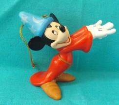 Walt Disney World Sorcerer Mickey Fantasia Figurine Christmas Holiday Ornament - $23.36