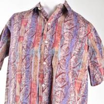 Reyn Spooner Seashells Tribal Purple Brown Red Large Hawaiian Aloha Shirt - $39.59