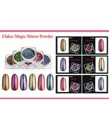 Flakes Magic Mirror Powder Nail Art Chameleon Glitter Color Changing Brush - $5.99