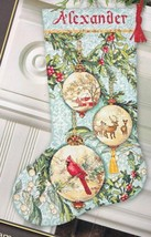 Dimension Enchanted Ornaments Cardinal Christmas Cross Stitch Stocking K... - $44.95