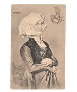 R. Beyschlag Artist Young Woman Costume Heraldic Crest F A Ackermann Pos... - $7.79