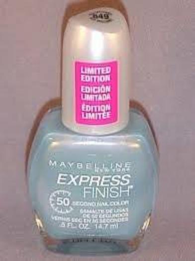 Maybelline Express Finish Nail Color Blue Brilliance 649 Nail Polish 50 Sec Dry