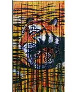 Natural Bamboo Beaded Curtain Bamboo TIGER Beads Window Doors Room Divider - $67.31
