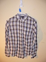 Gap Women's Red White Blue Plaid Button Down Shirt Long Sleeve Size S ek - $9.99