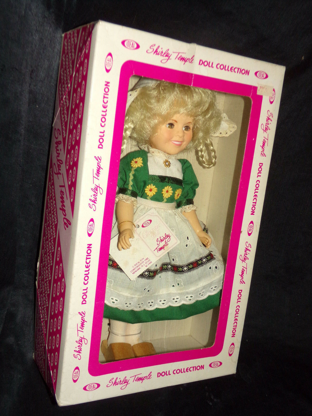 Primary image for Vtg 1982 SHIRLEY TEMPLE DOLL COLLECTION Ideal Dutch Wooden Shoes in Box Tags 12""