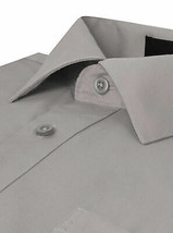Omega Italy Men's Light Gray Dress Shirt Long Sleeve Regular Fit w/ Defect - L image 2