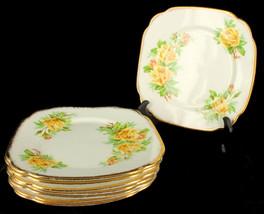 Vintage Royal Albert Bone China Set of 8 Salad Plates Tea Rose - $287.96