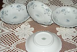 Johann Haviland-Blue Garland-Fruit/Dessert Bowl-Porcelain-Set of 4-Bavaria - $10.00