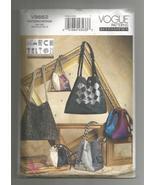 2010 Marcy Tilton Bags/Totes Vogue #V8662  - $10.00
