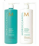 Moroccanoil Hydrating Hydration Shampoo Conditioner Duo 33.8oz / 1Liter New - $98.99
