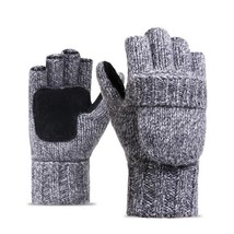 Gloves Knitted Mittens Cashmere Full Fingers Warm Casual Winter Patchwor... - $396,68 MXN
