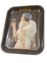 Antique 1925 Coca-Cola Party Girl Tin Tray American Art Works Reproducti... - $22.43