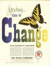 Vintage 1949 AD Print Texaco Co. Spring Check-Up Butterfly Ad-Print286 - $9.49