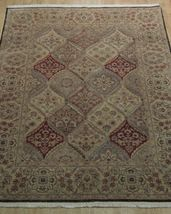 5x7 Multi-Color Oushak Wool Handmade Checked All-Over Transitional Area Rug image 3