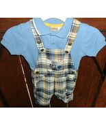 Little Rascals 24 month Overall short set Blue - $12.99