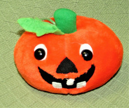 "Vintage Fiesta Pumpkin Stuffed Animal 1989 Plush Toy 7""X4"" Tall Orange Smile Toy - $21.78"