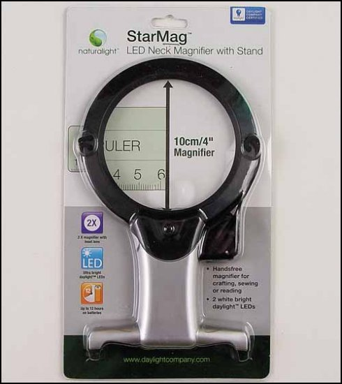 Led neck magnifier