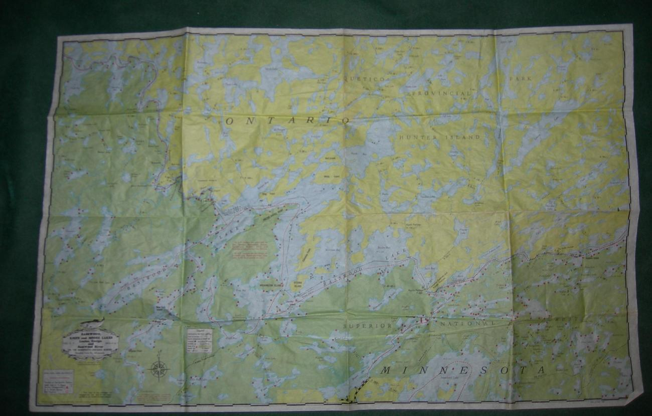 Map of Minnesota-Ontario Border - 1980s - Waterproof