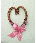 Mini Heart Shaped Grapevine Wreath Ornaments - Wedding Decor - Love Gift - $7.99