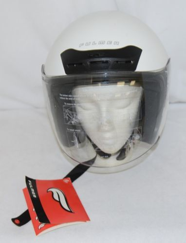 Fulmer AF65522002 Open Face Motorcycle Helmet Shield White Size Small