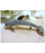 Gold Tone Rhinestone Dolphin Brooch/Pin - $12.95