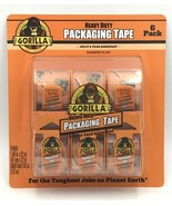 """Gorilla Heavy Duty Clear Packing Tape 6 Pack 1.88"""" x 25 yards Dispenser  - $24.99"""