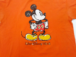 Walt Disney world orange with large mickey mouse graphics T-shirt size 2X - $9.89