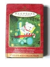 Hallmark Baby's Christmas Ornament Train Bear 2000 Child's Age Collection - £7.24 GBP