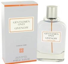 Givenchy Gentleman Only Casual Chic 3.3 Oz Eau De Toilette Cologne Spray image 2