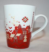 Starbucks 2013 Christmas Holiday 1 Coffee Mug Cups 11 oz  White Red House - $26.62