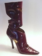 Highlights Sexy High Stiletto Heel Sleek Tall Leather Boot Just the Righ... - $49.99