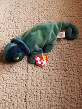 Very rare rainbow/ Iggy the beanie baby with major errors - $5,520.00