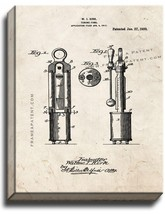 Tuning Fork Patent Print Old Look on Canvas - $39.95+