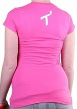 T.I.T.S. Womens Hot Pink White Girl Hard Habit to Break T-Shirt image 2